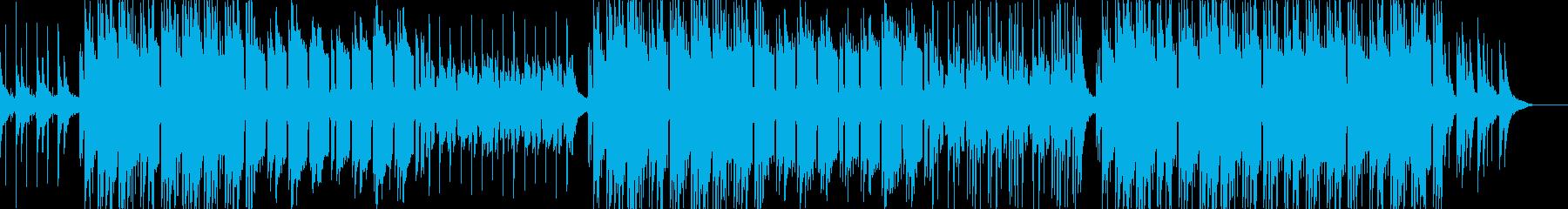 優しいメロディのローファイヒップホップの再生済みの波形