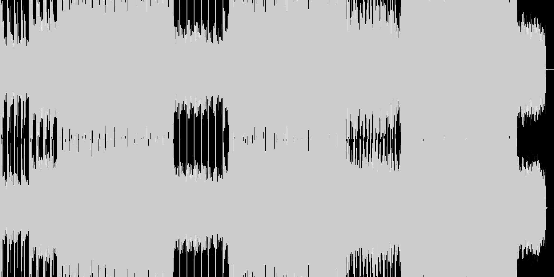 ずっしりと堂々と迫力のあるエレクトロニカの未再生の波形