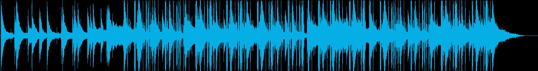 ヒップホップ、ジャズの再生済みの波形