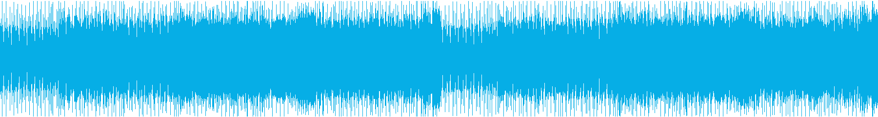 熱く燃える疾走感のあるロックインストの再生済みの波形