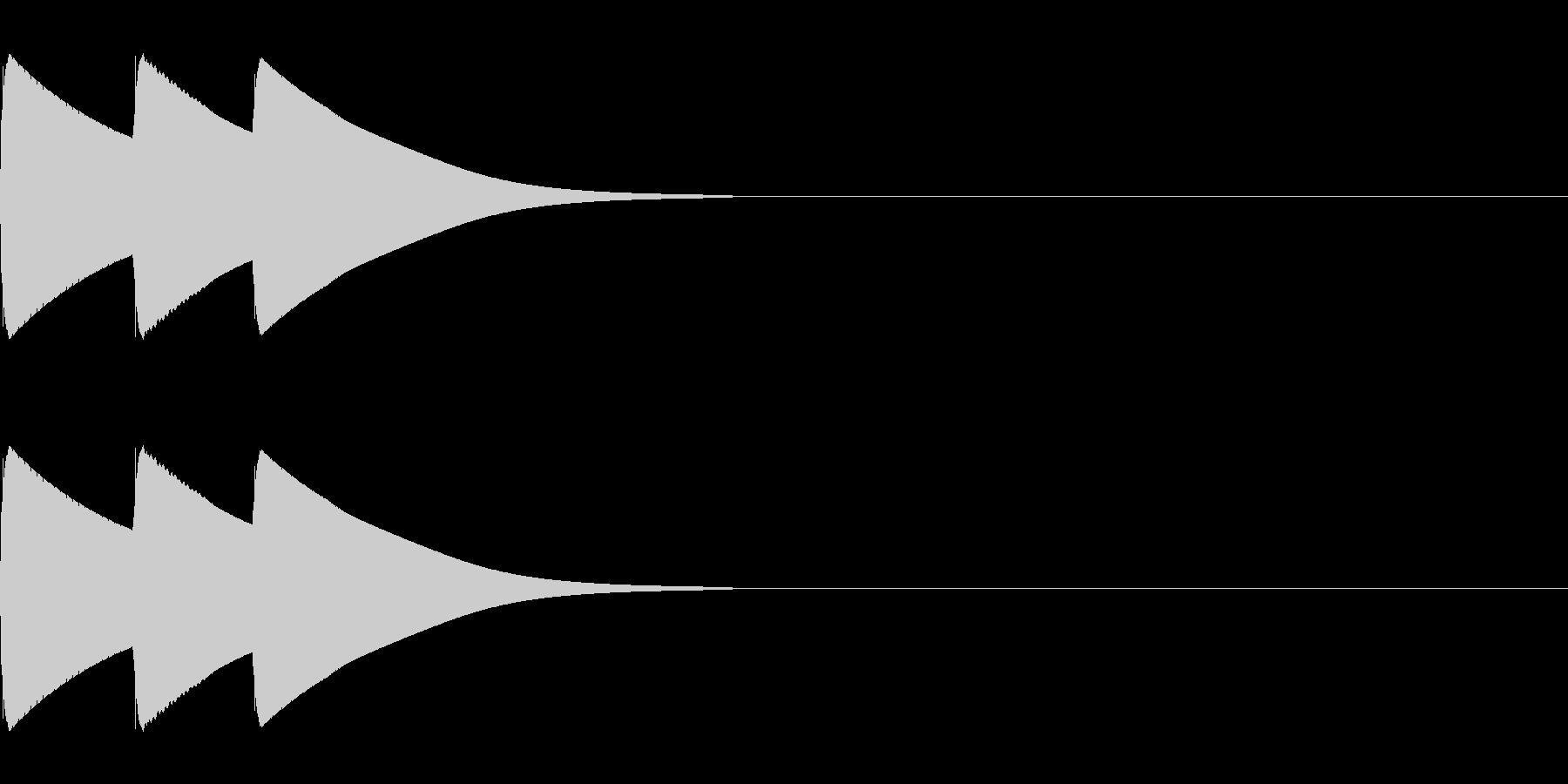 ボタン、クリック、アイテム獲得(高音域)の未再生の波形