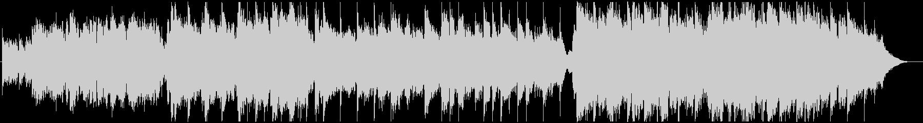 アコースティック楽器による優しいBGMの未再生の波形