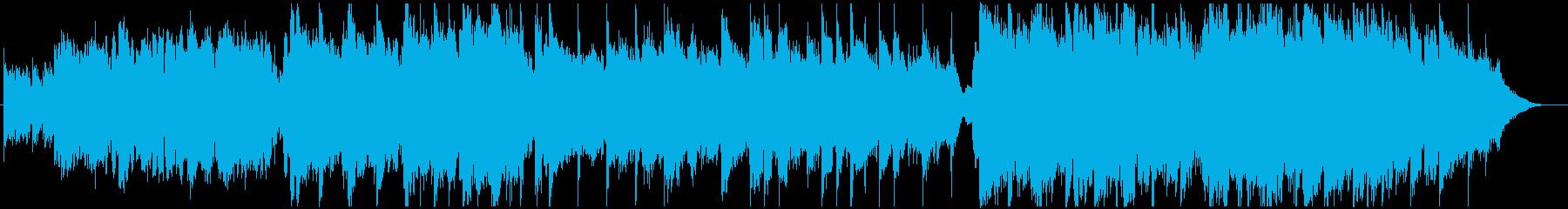アコースティック楽器による優しいBGMの再生済みの波形