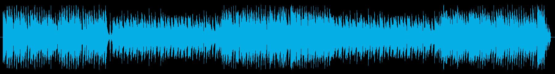 おしゃれなピアノジャズ曲の再生済みの波形