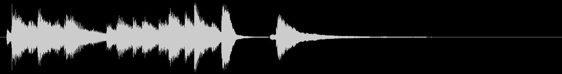 切ないメロディのピアノソロジングルの未再生の波形