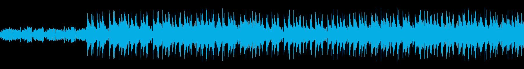 雨をイメージしたChillミュージックの再生済みの波形