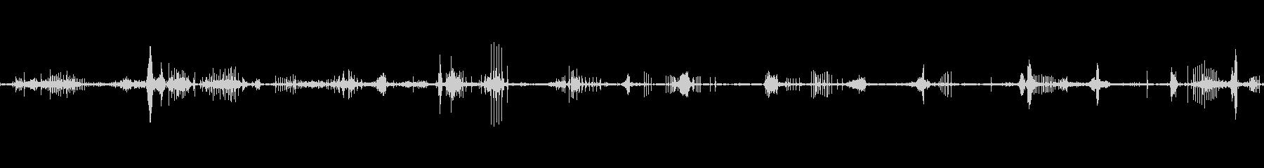 ASMR 足音(雪 登山靴)ゆっくりの未再生の波形