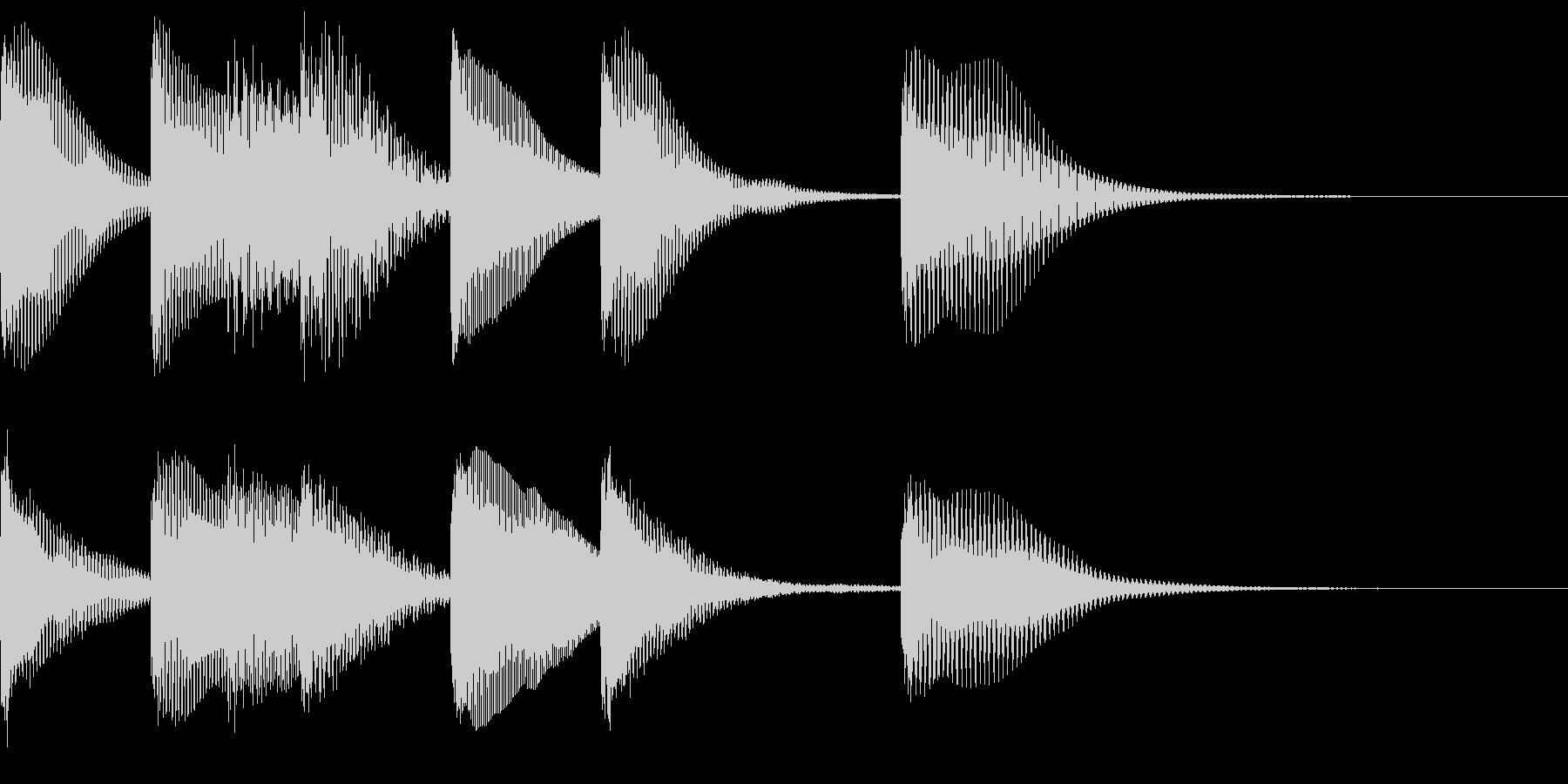 シンプルなジングル【マリンバ】の未再生の波形
