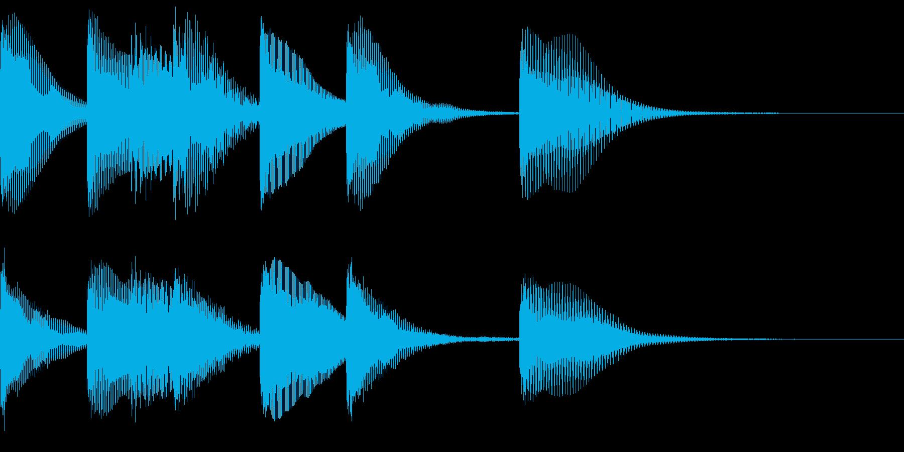 シンプルなジングル【マリンバ】の再生済みの波形