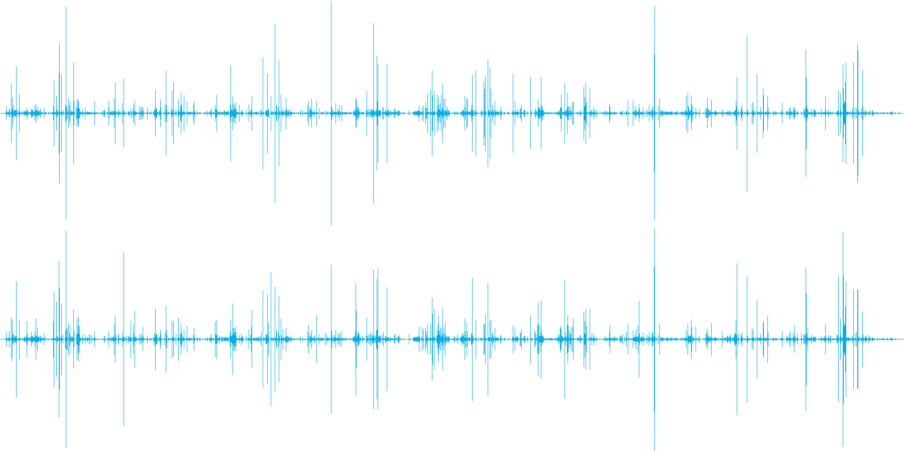 木 竹クラックシーケンス04の再生済みの波形