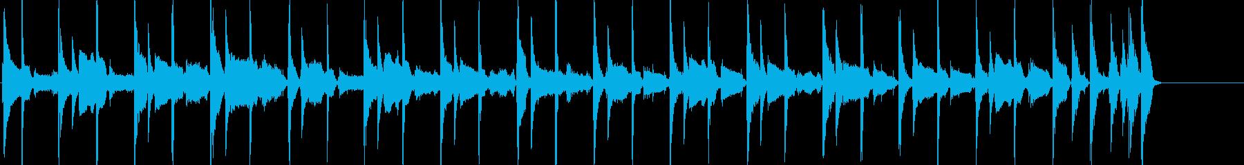 口笛とコンガ リラックスしたほのぼのな曲の再生済みの波形