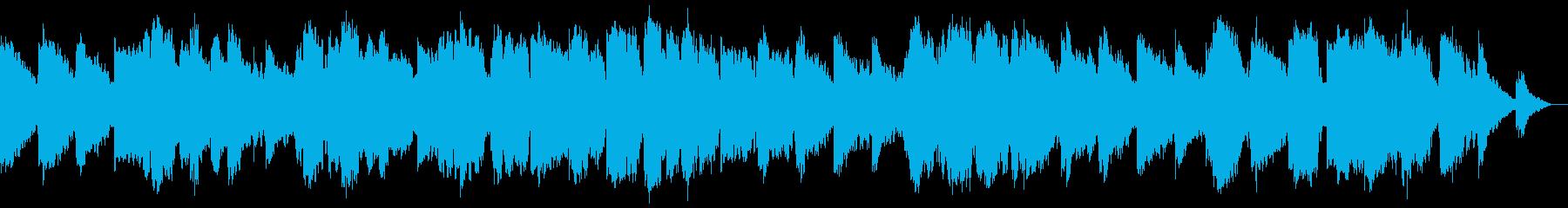 静かな低音のケーナの瞑想音楽の再生済みの波形