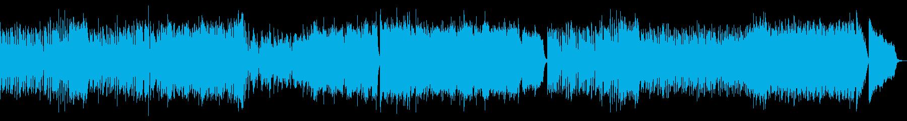 ラグタイム風ピアノBGMの再生済みの波形