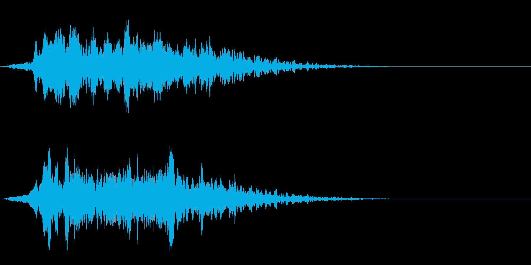 タイトルバック(ホラー、ミステリー)の再生済みの波形