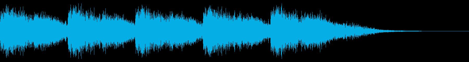 アラート音の再生済みの波形