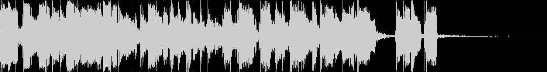 ボサノバ風BGMの未再生の波形
