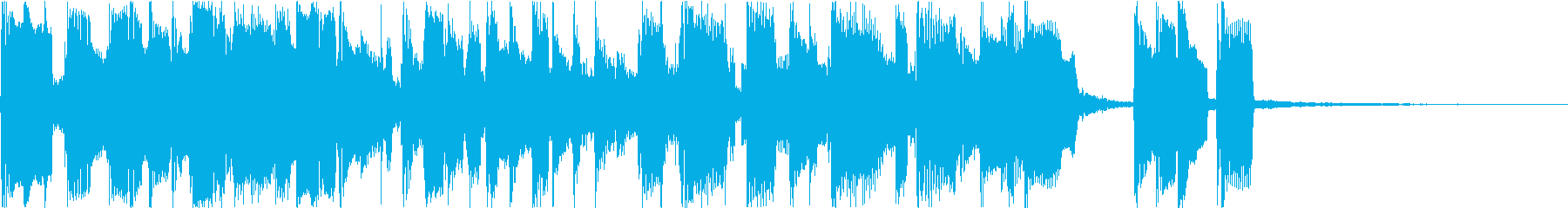 ボサノバ風BGMの再生済みの波形