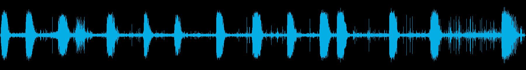 ヘビーブローイングファイアウーシャの再生済みの波形