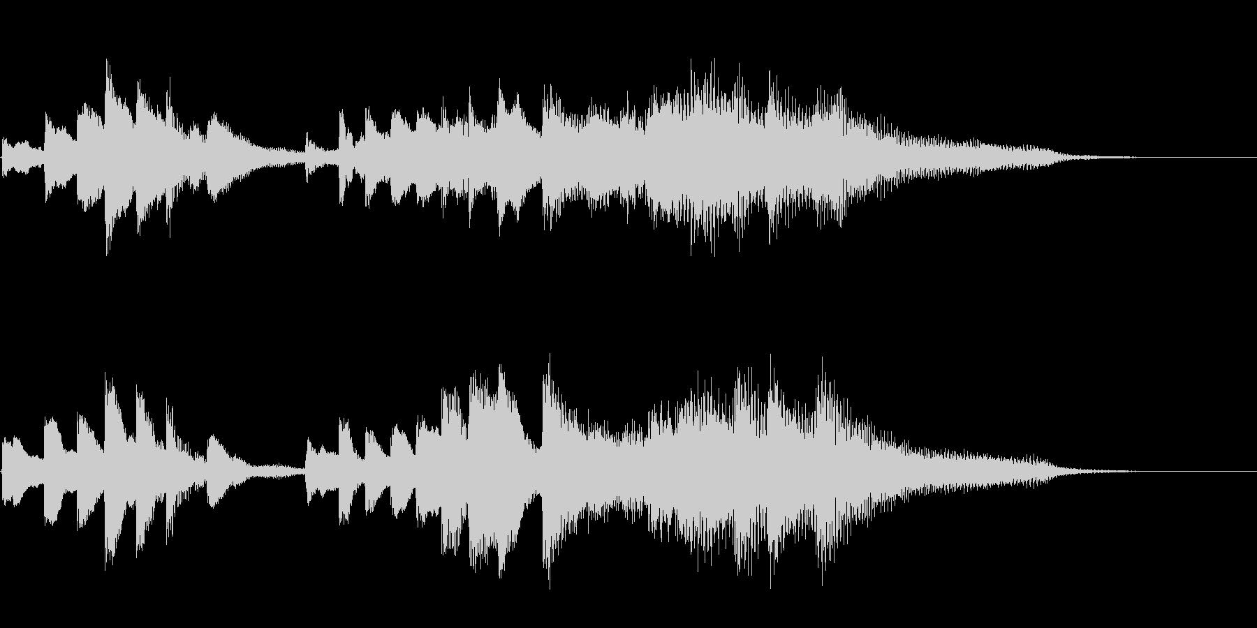 キラキラして感動的なピアノソロ11秒の未再生の波形