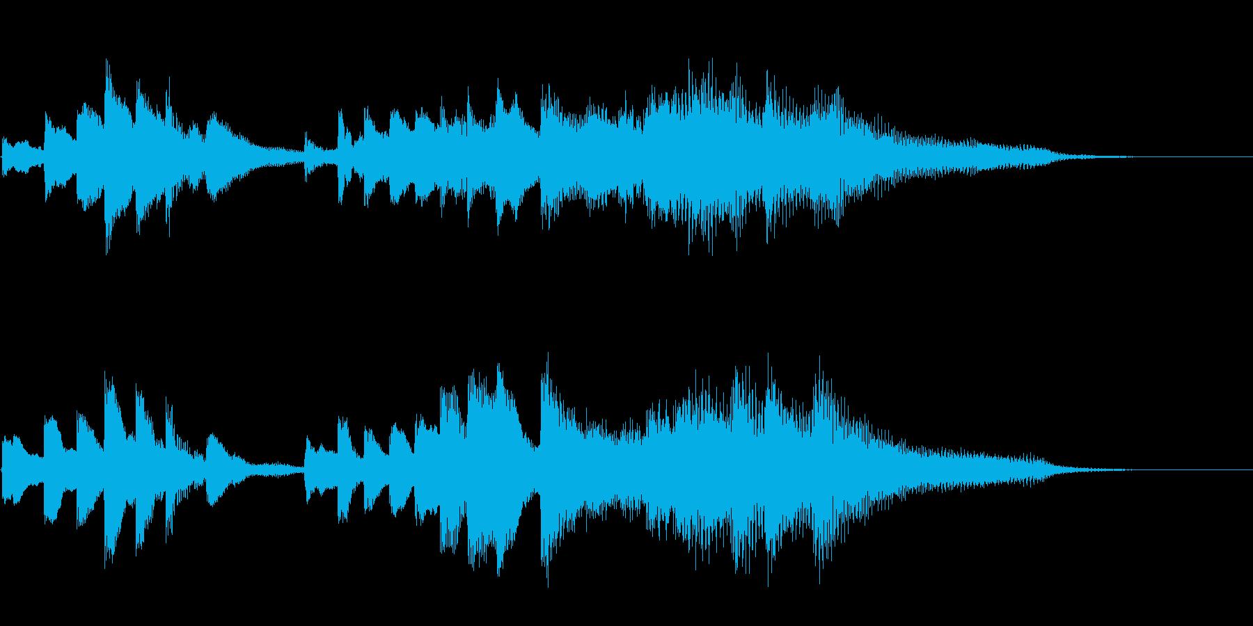 キラキラして感動的なピアノソロ11秒の再生済みの波形
