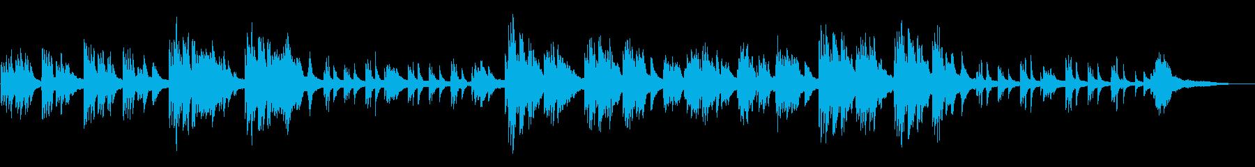 懐かしさのあるピアノソロの再生済みの波形