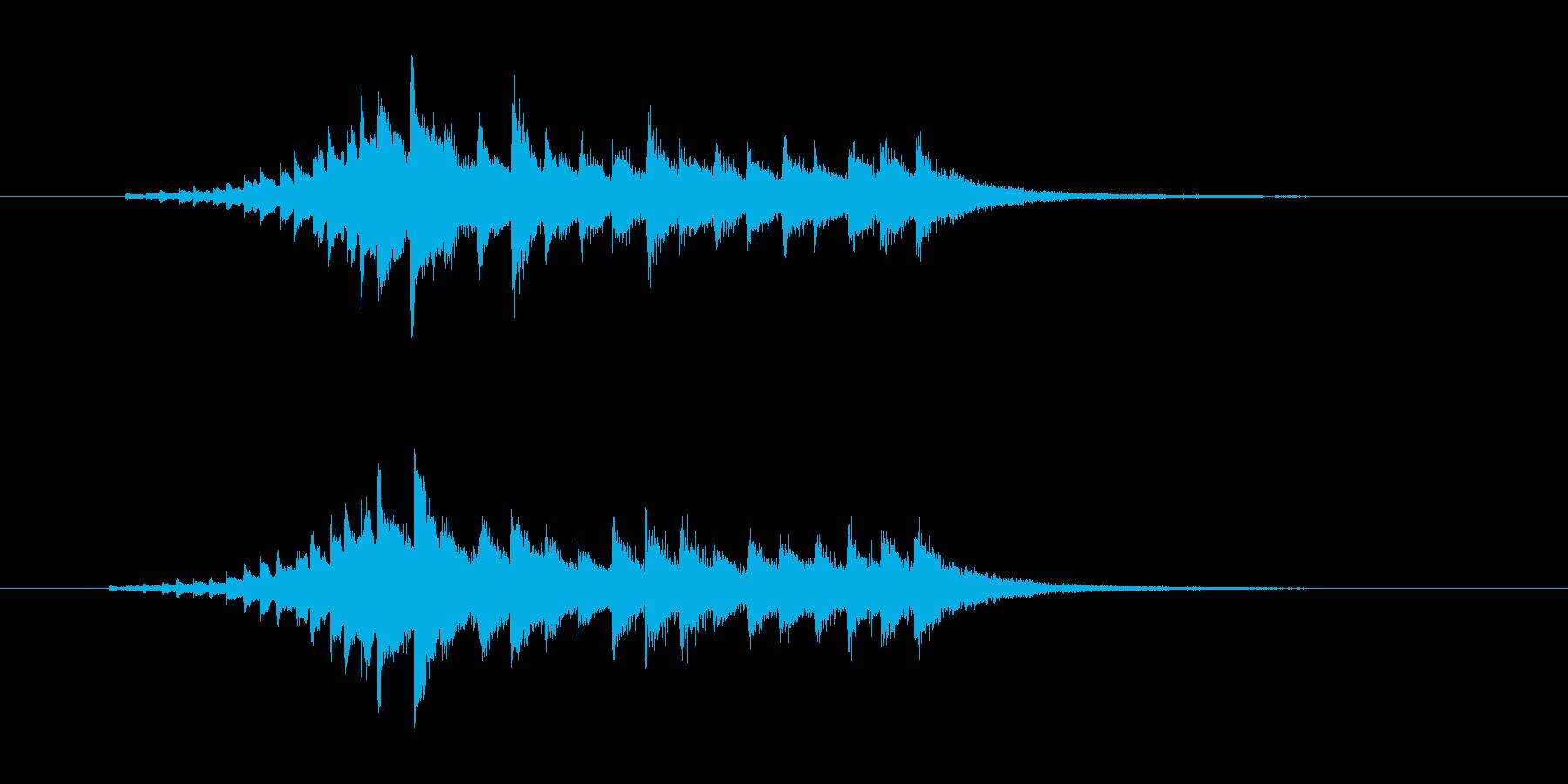 美しい和風な弦楽器・打楽器サウンドの再生済みの波形