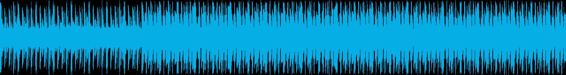 マリンバによる切なく冷たいループ曲の再生済みの波形