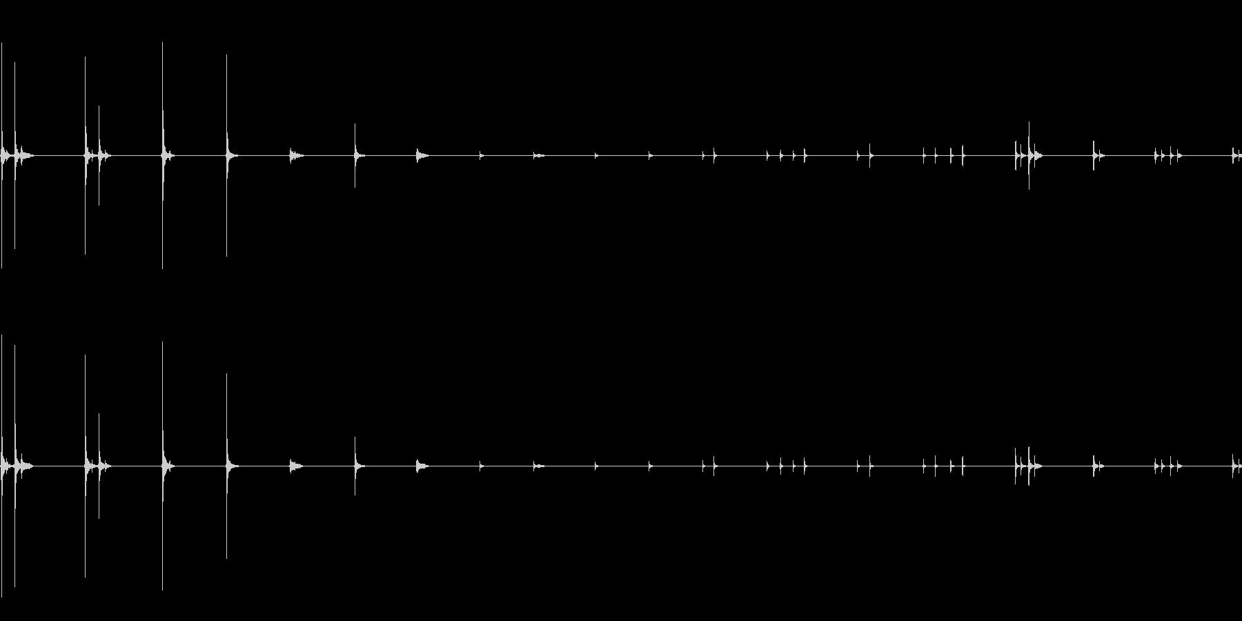 マウスクリック2;トラックボールコ...の未再生の波形