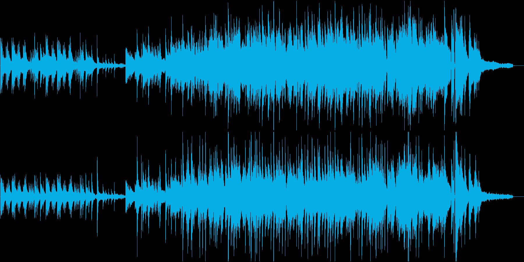 高音が澄み切ったピアノソロ楽曲の再生済みの波形