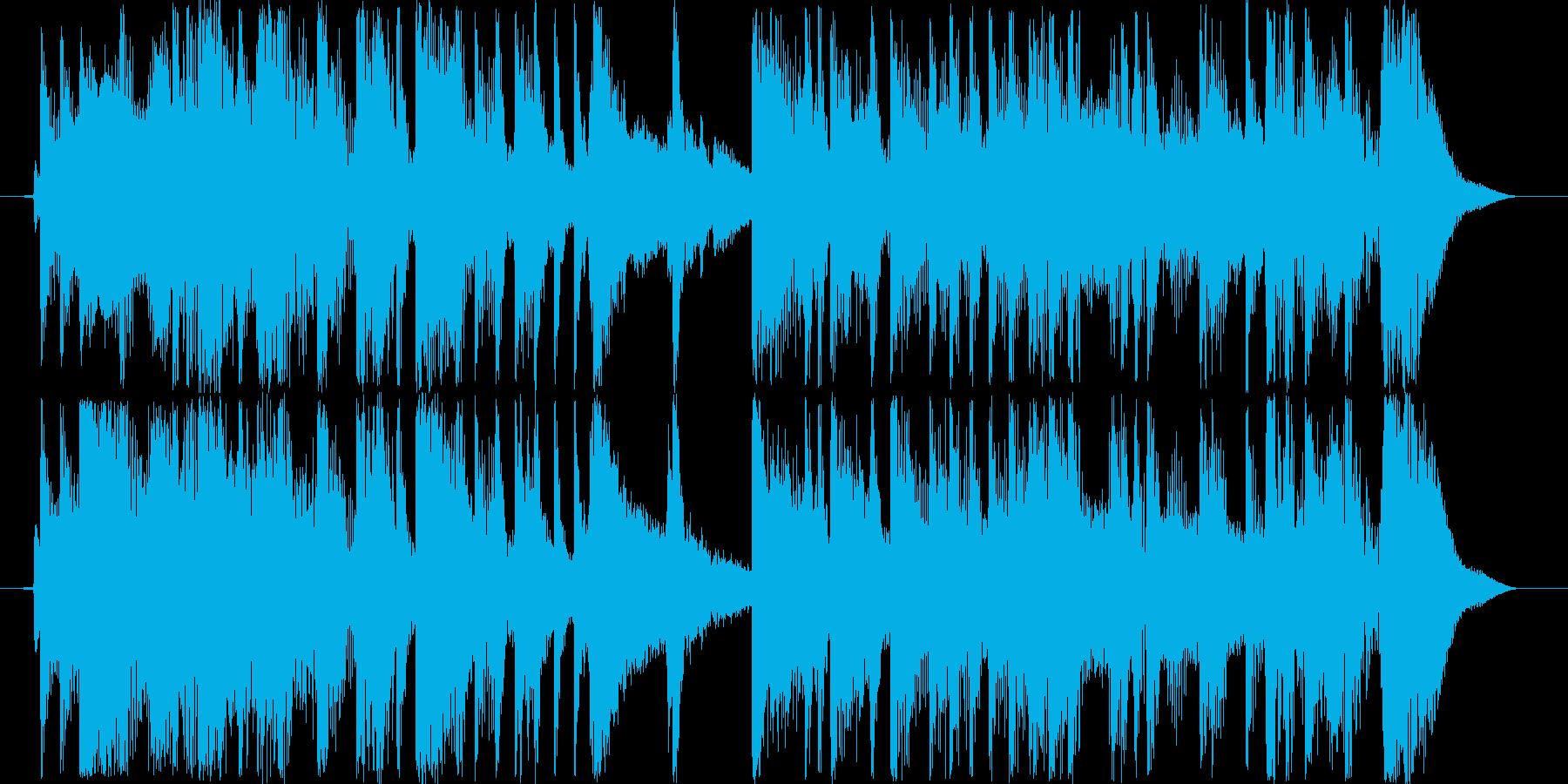 リズミカルな登場曲の再生済みの波形