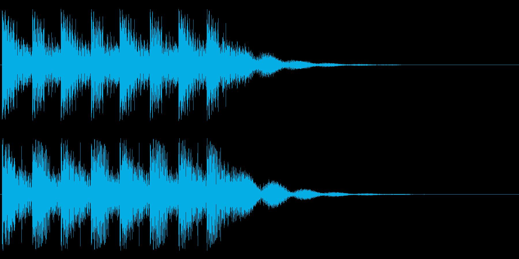 ダントンダントン・・・(ティンパニ)の再生済みの波形