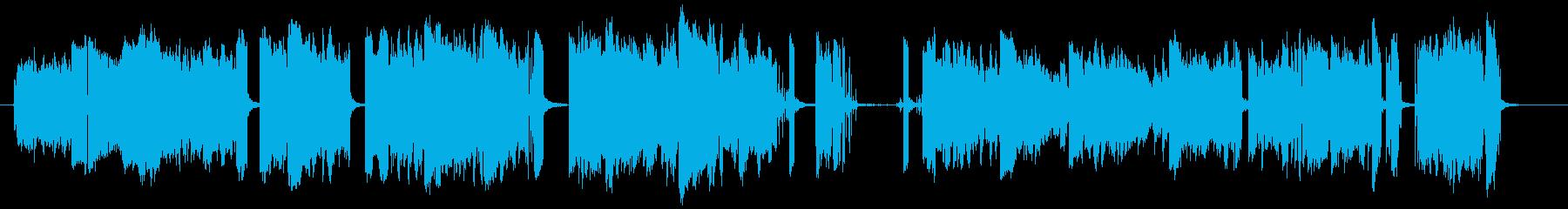 【電気ノイズ映画予告SE】ビリビリバチッの再生済みの波形