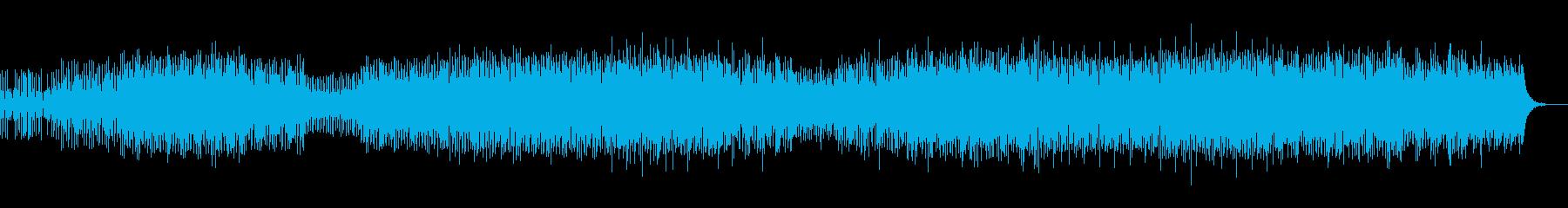 激しいフィルインが持続する幻想的なテクノの再生済みの波形