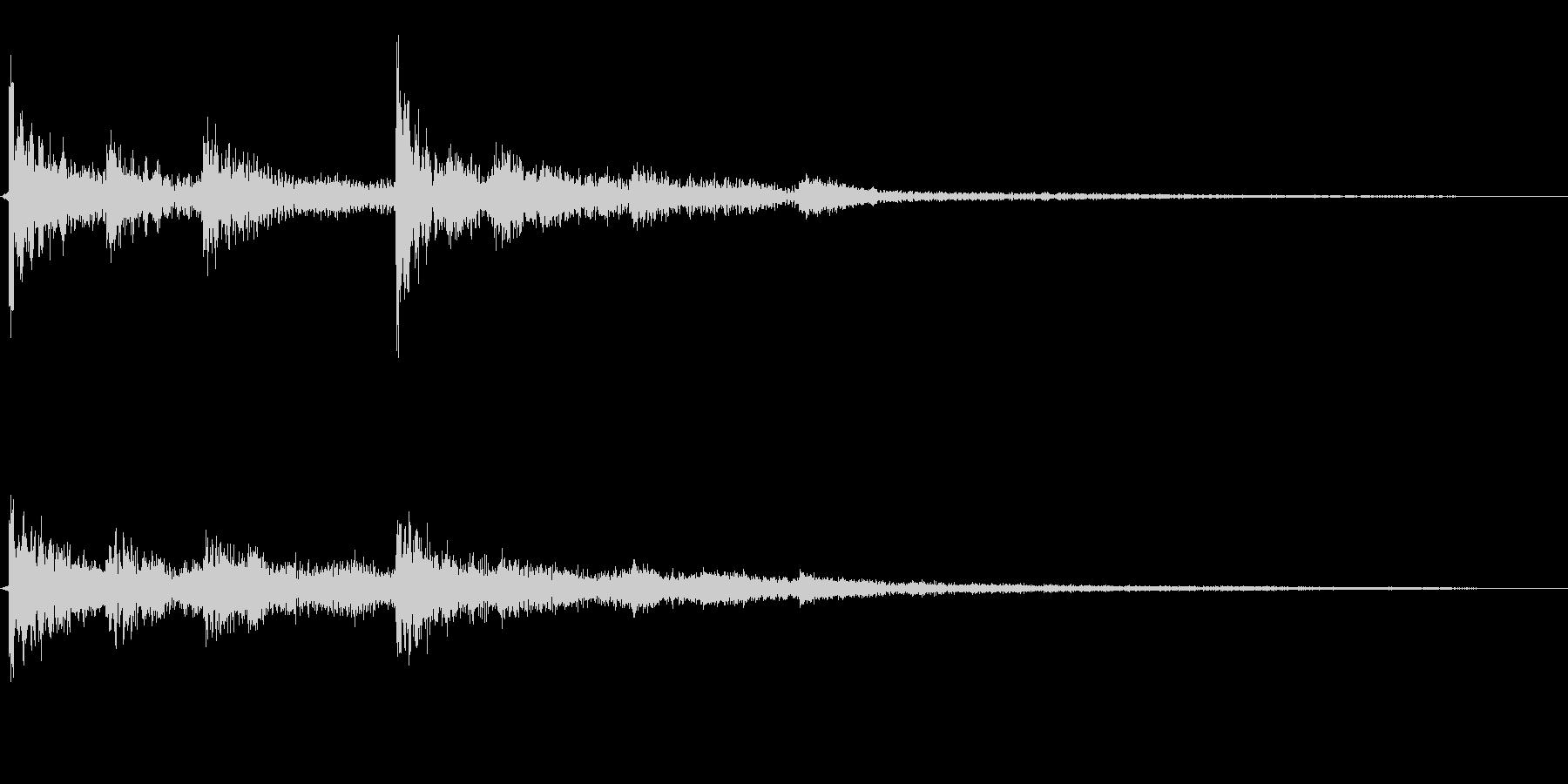 和風クリック音源ワンポイント効果音の未再生の波形