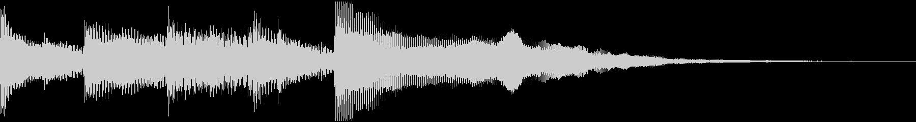 美しいピアノ、グロッケンシュピール...の未再生の波形