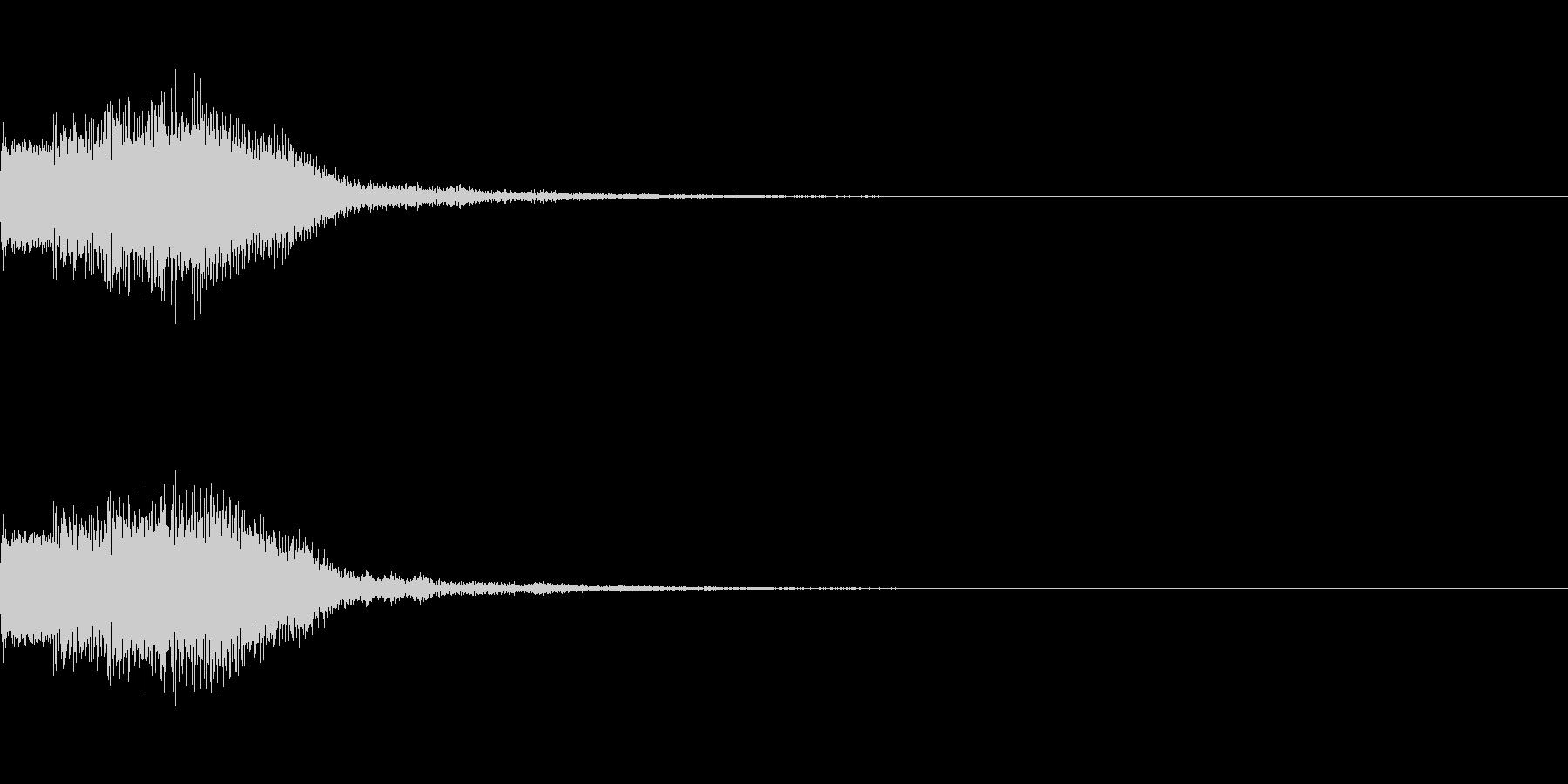 シンセサイザー 決定音ゲームスタート1の未再生の波形