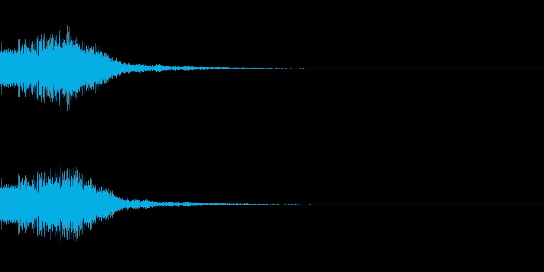 シンセサイザー 決定音ゲームスタート1の再生済みの波形