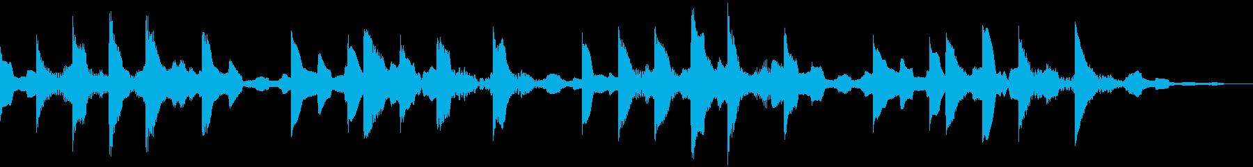 綺麗でメロディアスな着信音の再生済みの波形