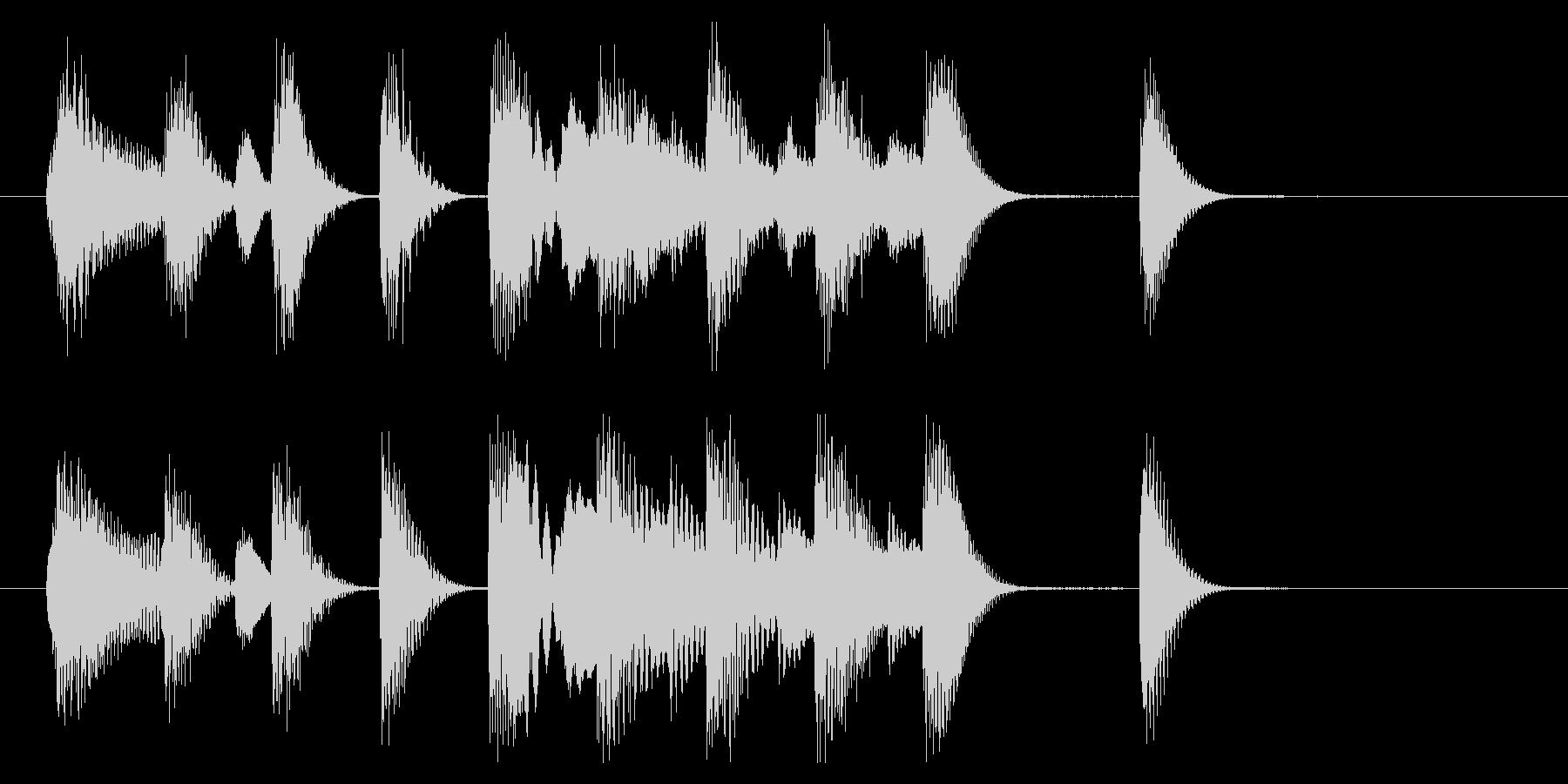 明るく軽快なピアノジングル 4秒の未再生の波形
