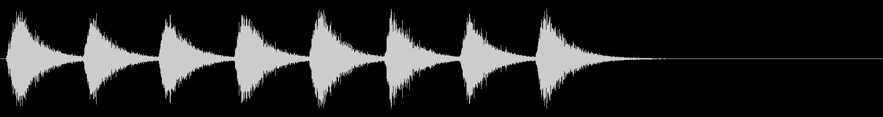 ドラゴンの羽ばたき1_リバーブの未再生の波形