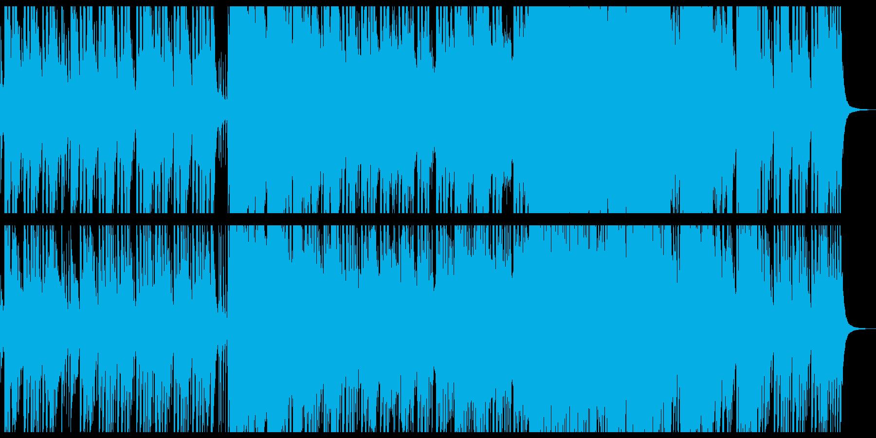 和風なお祭り騒ぎが印象的なBGMの再生済みの波形