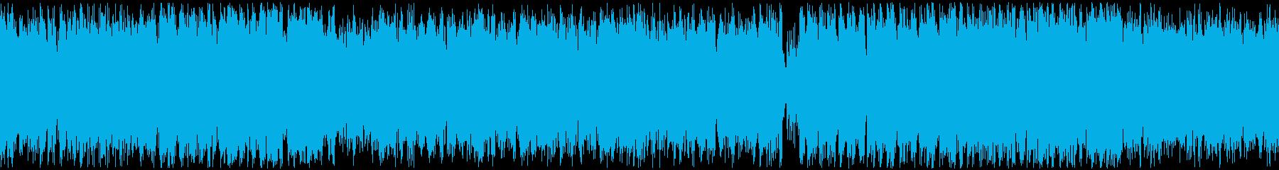 笛をリードに置いた民族系RPG曲の再生済みの波形