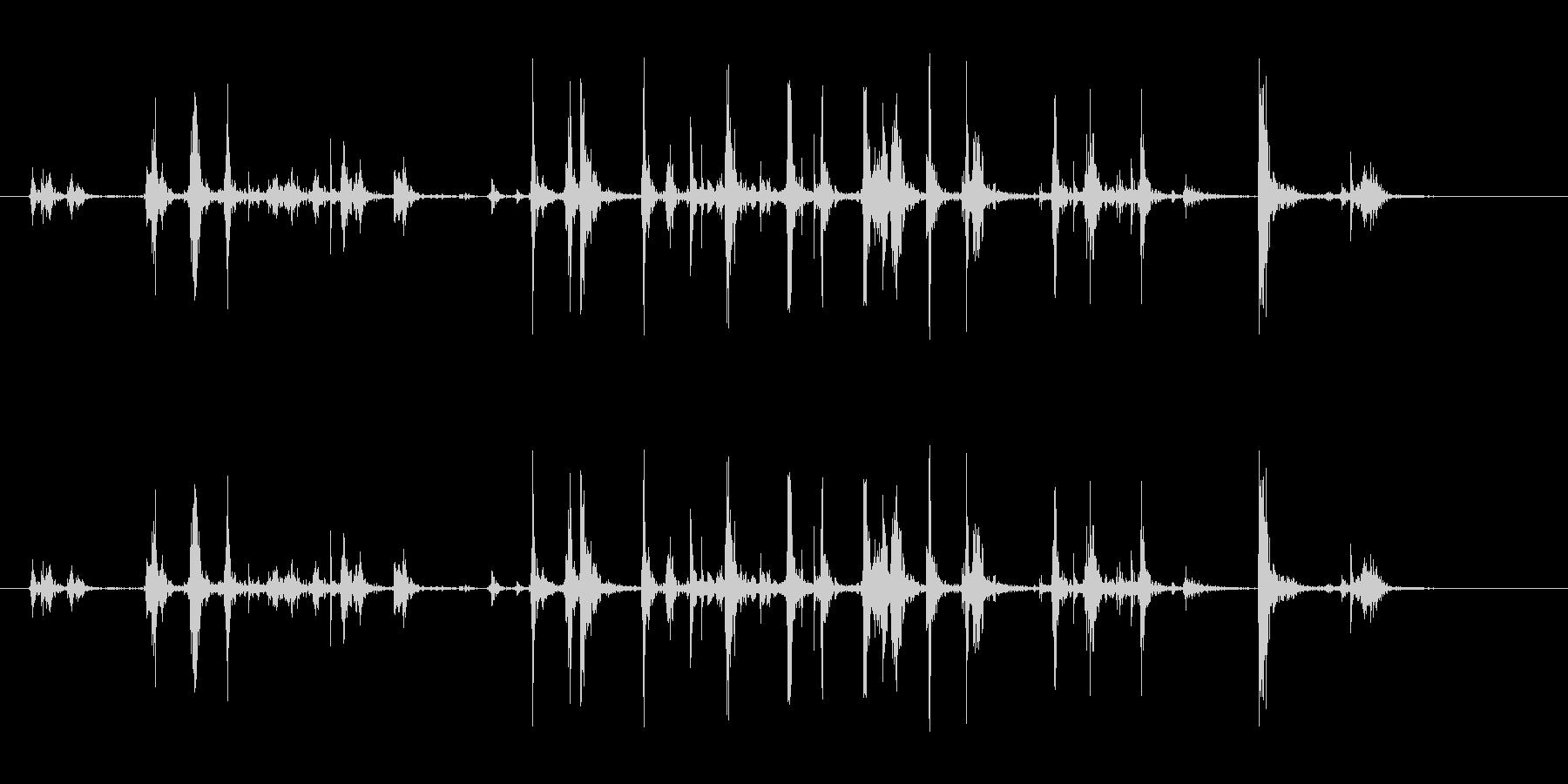 キーボードのストロークの未再生の波形