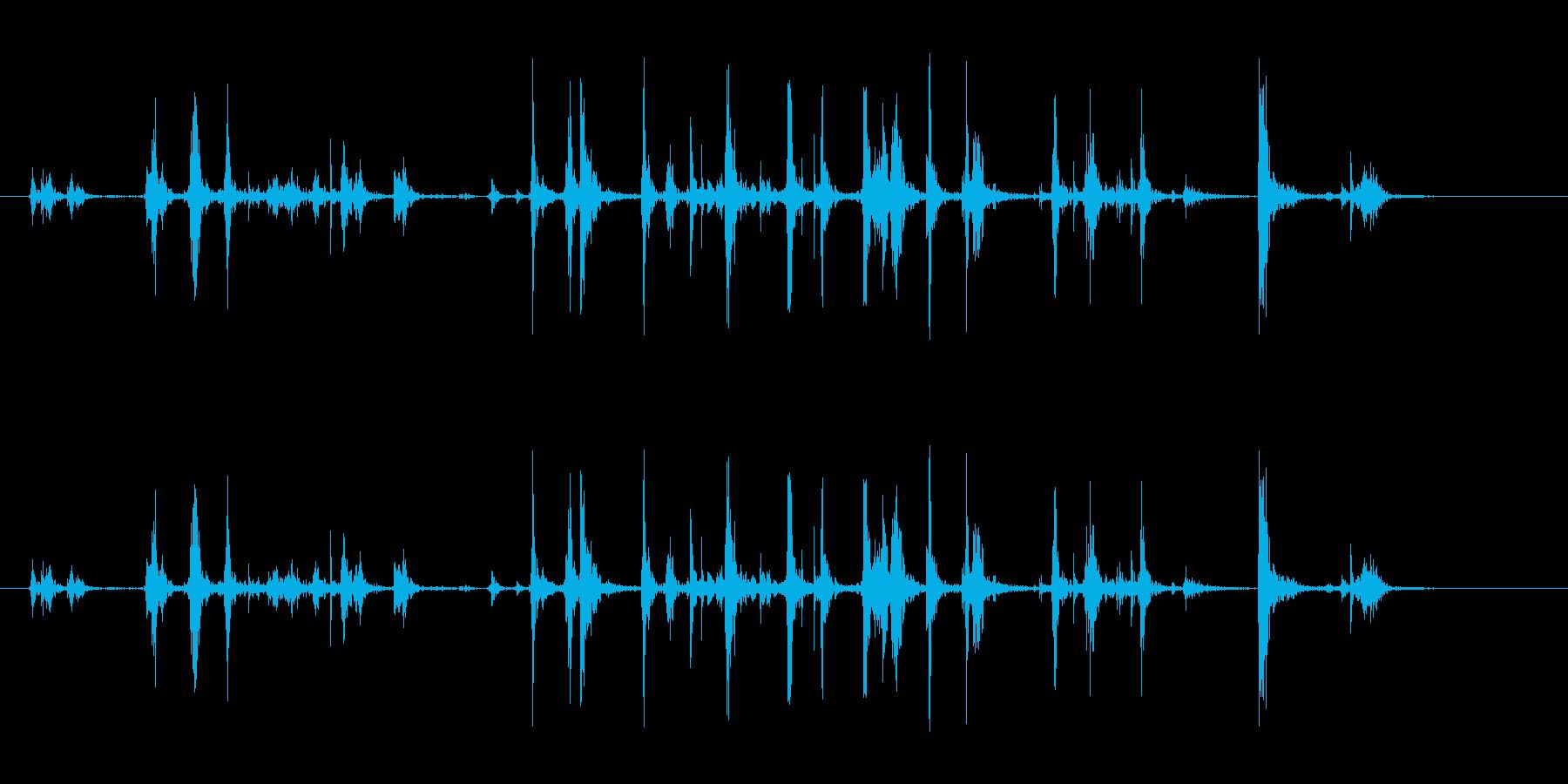 キーボードのストロークの再生済みの波形