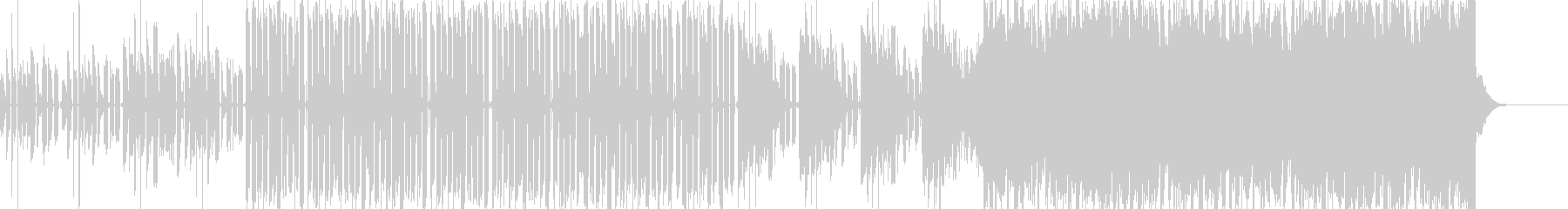 様々な音が入り乱れるテクノ系BGMの未再生の波形