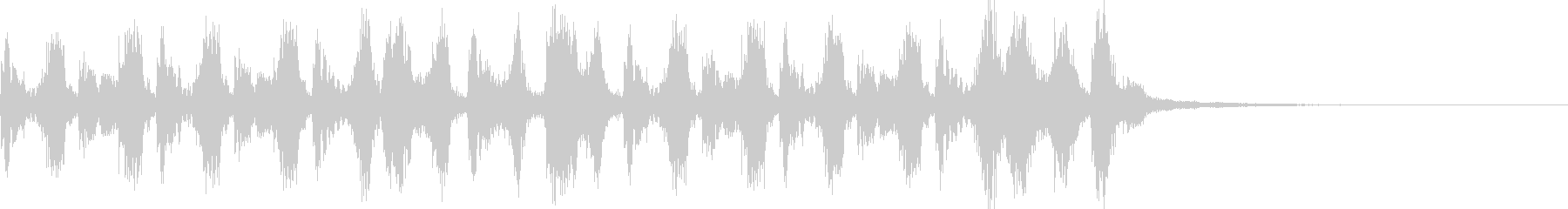 Comical accordion jingle running in a hurry's unreproduced waveform