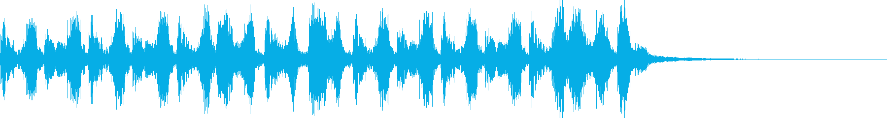 Comical accordion jingle running in a hurry's reproduced waveform
