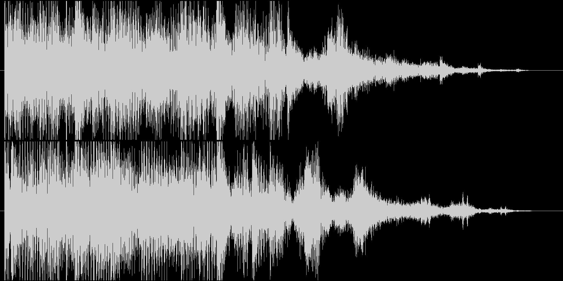 暗いシンセサイザーと残忍なビートを...の未再生の波形