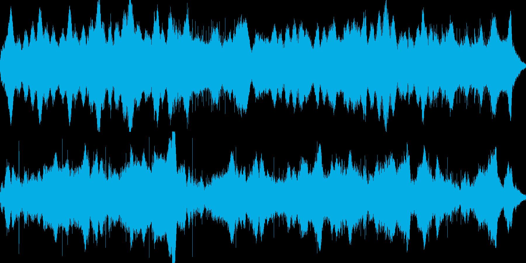 違和感、不調和ホラーサスペンス ループの再生済みの波形