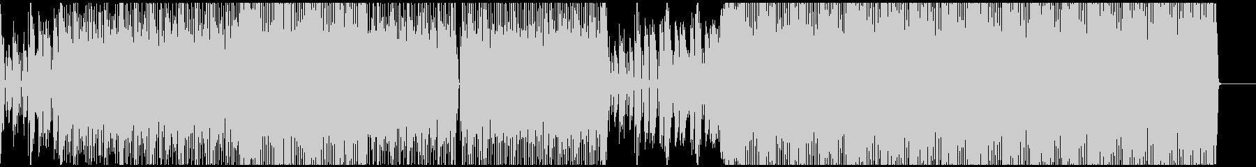 ピアノと不思議ボイスがオシャレなハウス曲の未再生の波形